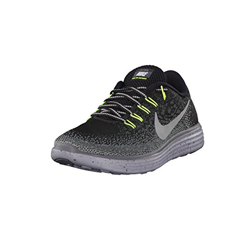 new styles d2f5f ded0b Women's Nike Free RN Distance Shield BLACK/METALLIC SILVER-DARK  GREY-STEALTH 8.5