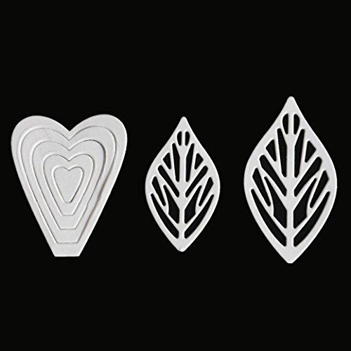 TOPUNDER Flower Heart Metal Cutting Dies Stencils DIY Scrapbooking Album Paper Car - H&c Silver Wreath