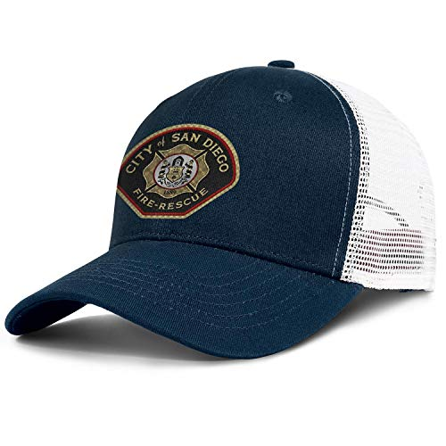 WENL City of San Diego Fire-Rescue Unisex Mesh Dad Hat Low Profile Adjustable Sun Cap