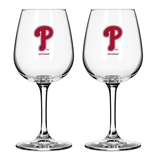 - MLB Philadelphia Phillies Game Day Wine Glass, 12-ounce, 2-Pack