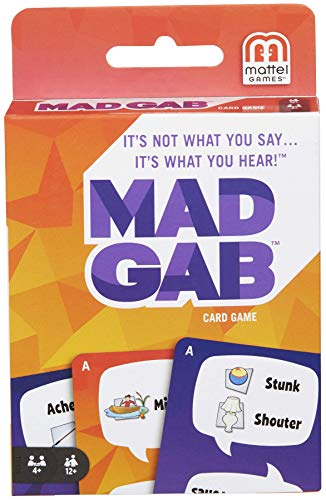 MAD GAB Card Game of Verbal Puzzle Phrases, Gift for Players Ages 12 Years & Older