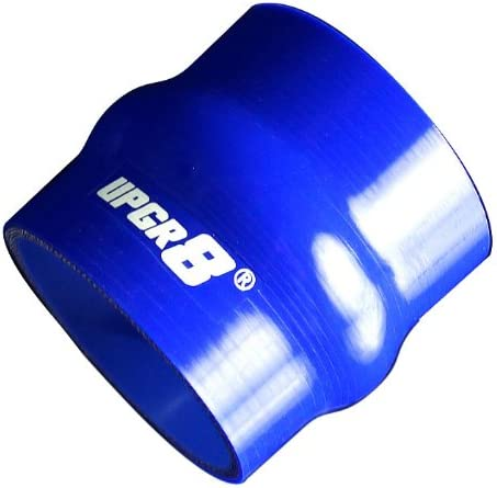 76MM , Blue Upgr8 Universal 4-Ply High Performance Straight Hump Coupler Silicone Hose 3.0