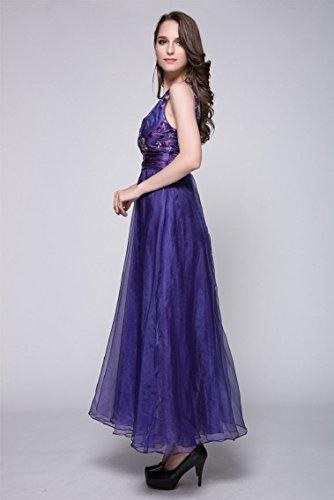 Satin tiefem Doppel Linie Emily Ausschnitt Abendkleider Beauty Violett A V 1qP60vp
