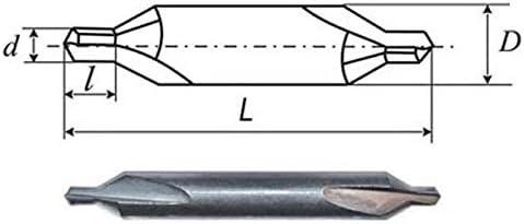 10 PCS D 1,25 mm CENTER CARBIDE DRILLS COMBINED
