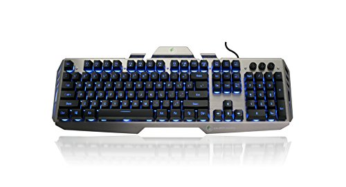 IOGEAR Kaliber Gaming HVER Aluminum Gaming Keyboard - Black/Gray (GKB704L-BK)
