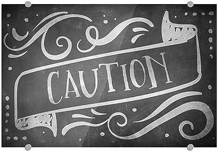Caution CGSignLab 5-Pack Chalk Banner Premium Brushed Aluminum Sign 18x12