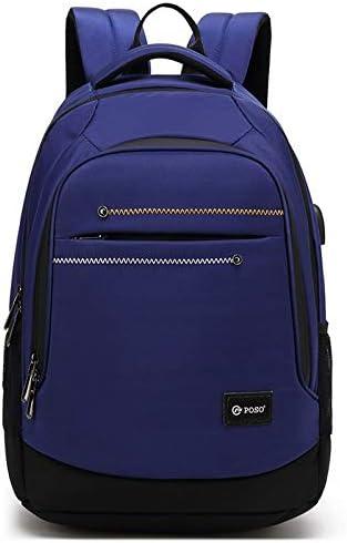 LCHAO Travel Backpack USB Charging Travel Bag Shoulder Bag Backpack Outdoor Backpack Bag Backpack Men Color : Blue
