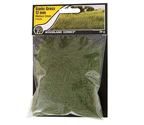 Woodland Scenics FS626 Static Grass, Medium Green 12mm