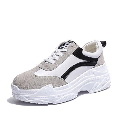 KPHY Trotar Calzados Deportivo Estudiantes Ocio Harajuku De Fondo Grueso Zapatos Zapatos Para Correr Las Mujeres black