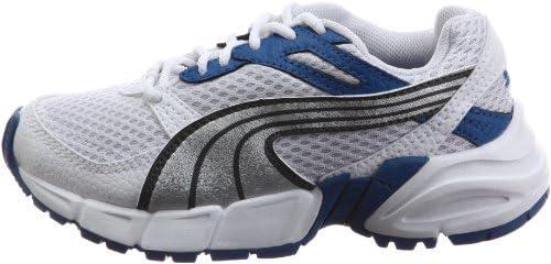 PUMA Axis Mesh Kids White//Silver//Blue Trainer