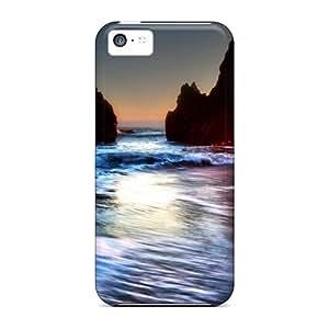 Special S.N.H Skin Case Cover For Iphone 5c, Popular Vector De Zee Rotsen Phone Case