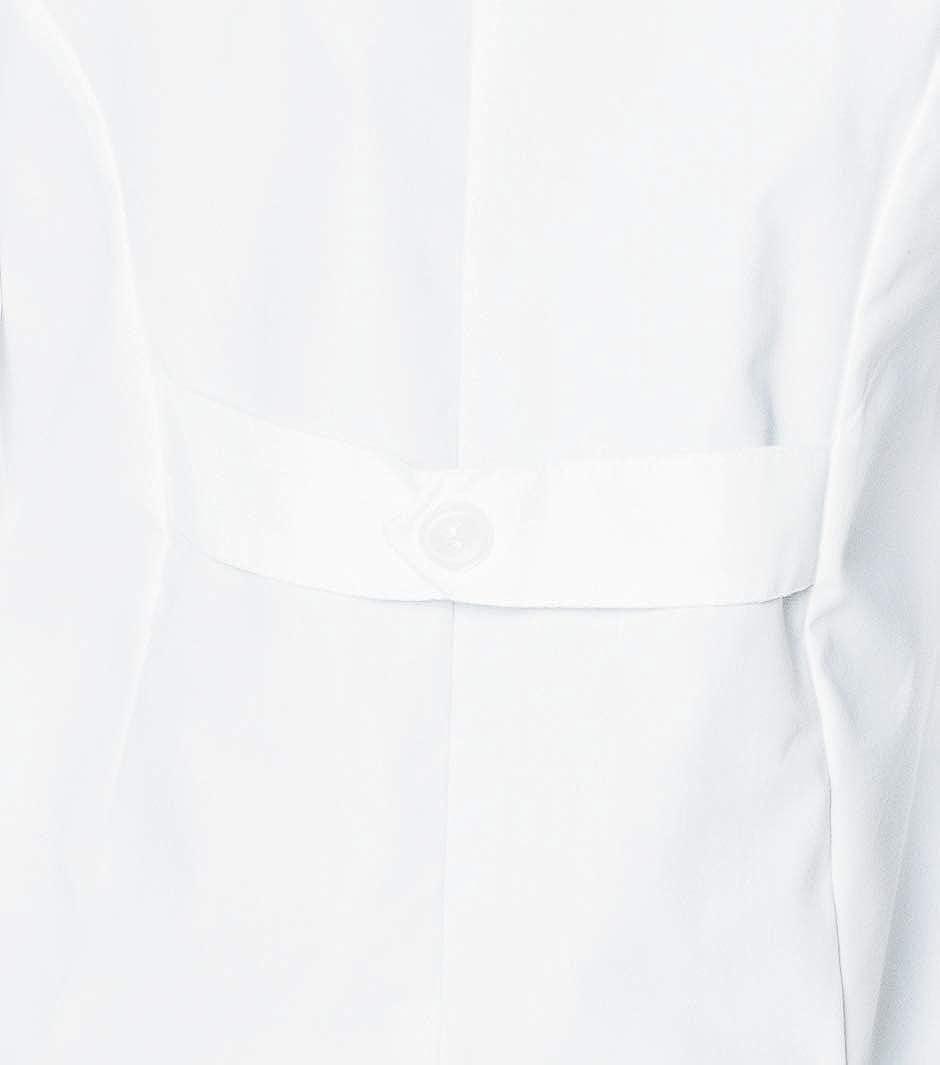Landau Women's 3-Pocket, Classic Relaxed Fit Notch Collar Medical Lab Coat 3155: Clothing