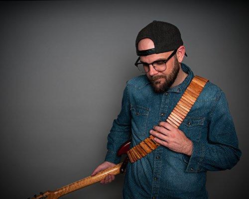 Revo Solano - Handcrafted Wooden Guitar Strap (Tigerwood)