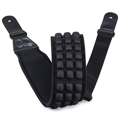 kliq-aircell-guitar-strap-for-bass-electric-guitar-with-3-wide-neoprene-pad-and-adjustable-length-fr