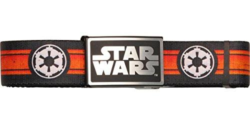 Star Wars Logo Belt - Star Wars Empire Logo Stripe Wide Mesh Belt