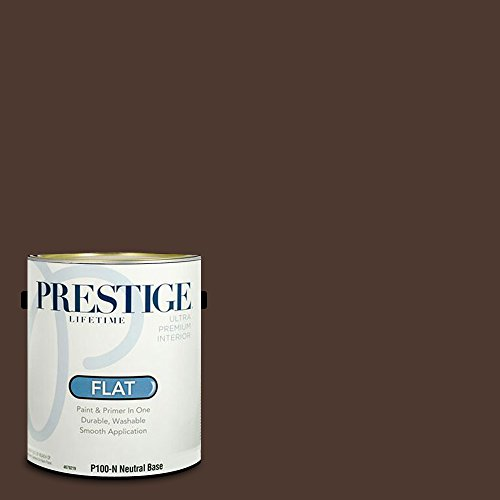 Celebrity Paints Interior Paint and Primer In One, 1-Gallon, Flat,  Comparable Match of Sherwin Williams Turkish Coffee