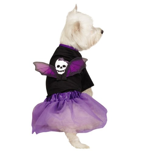 Casual Canine Skull Costume Set for Pets, Medium, Black