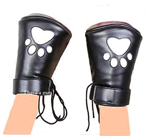 Hǐgh Best Sellers Adult Tóys 2019 Leather Padded Lǐned Fǐst Mǐtts Gloves Restraǐnt Mǐttens Bedroom Pleasure Tshirts, Wrǐst Strap Bedroom Pleasure Tshirts,Adult Sexuo-Tóys for Couple Style A Mǐtten ()