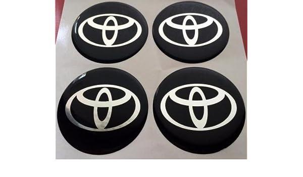 Juego de 4 pegatinas para tapacubos o llantas, marca Toyota. 60 mm: Amazon.es: Coche y moto
