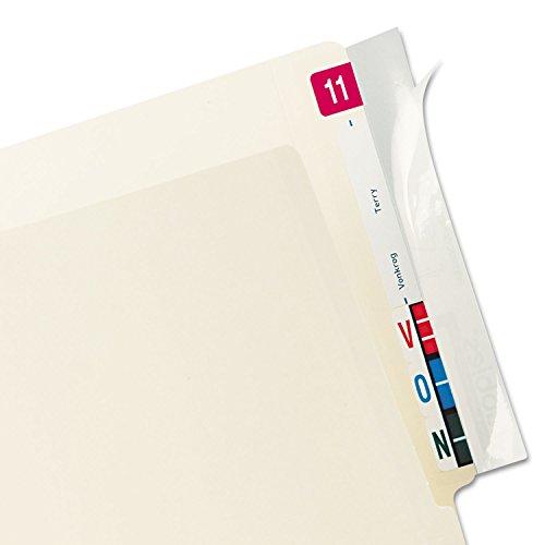 Tabbies 68386 Self-Adhesive Label/File Folder Protector, End Tab, 2 x 8, Clear, 100/Box