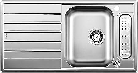 Blanco Livit 45 S Centric, Küchenspüle, Einbauspüle, mit Ablauffernbedienung, reversibel, Edelstahl Bürstfinish; 514790