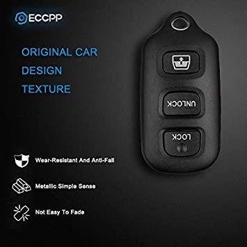 99-2009 Toyota 4Runner, 98-1999 Toyota Avalon, 01-2008 Toyota Sequoia SCITOO Key Fob Case Replacement fit for 2X 4 Button Keyless Fob Shell HYQ12BBX HYQ12BAN HYQ1512Y