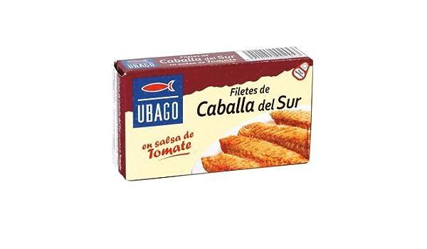 UBAGO filetes de caballa del sur en salsa de tomate lata 65 gr: Amazon.es: Alimentación y bebidas