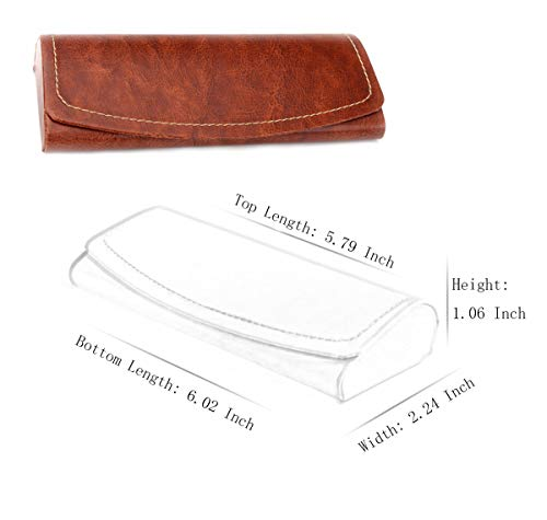 PU Leather Hard Shell Eyeglass Case Portable Sunglasses Glasses Holder Pouch (Brown) by Bauson (Image #6)