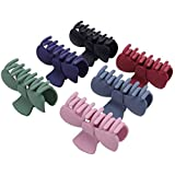 TODEROY Large Hair Claw Clips for Women and Girls Strong Hold Hair Barrette Clamps for Thick Hair and Thin Hair, 6 Color Fash