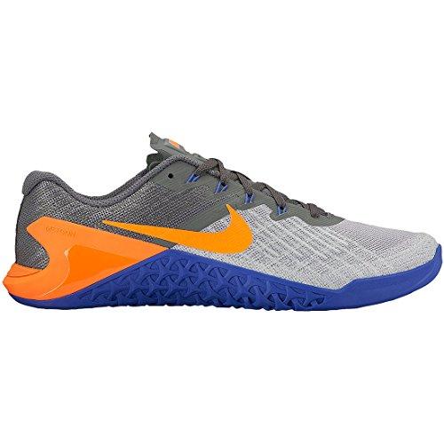 Nike Metcon 3 Wolf Grey/Tart/Dark Grey/Paramount Blue Men's Cross Training Shoes - 14 D  Medium by NIKE