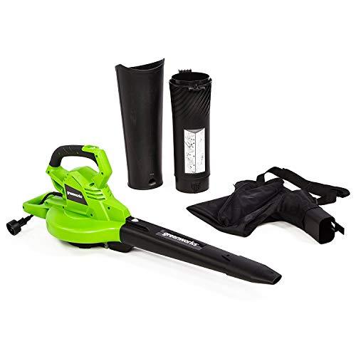Greenworks BLV12B00 12 Amp 270MPH-400CFM 2-Speed Blower/Vacuum (Best Rated Leaf Blower Mulcher)