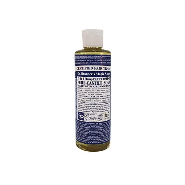 Dr Bronners Pure Castile Soap Peppermint (237ml 100% organic)