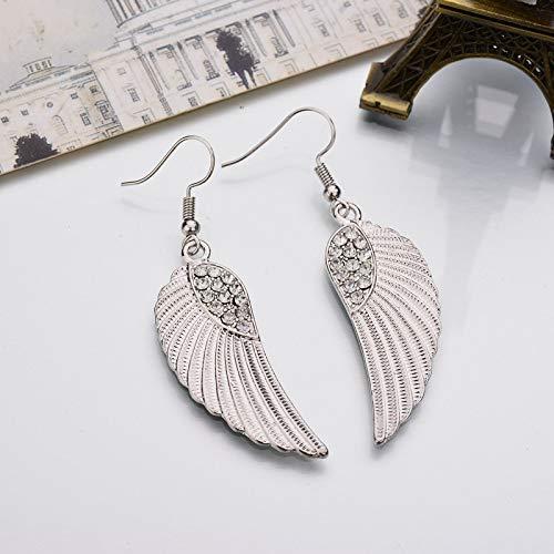 Exquisite Angel Wings Weddings Jewelry Bohemia Gold Plated Crystal Wings Dangle Earrings