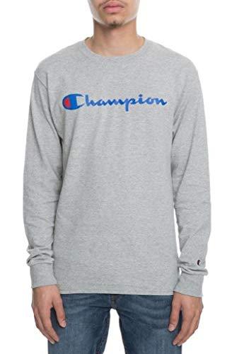 Tall Script Graphic Long Sleeve T-Shirt (XLT, Oxford Gray) ()