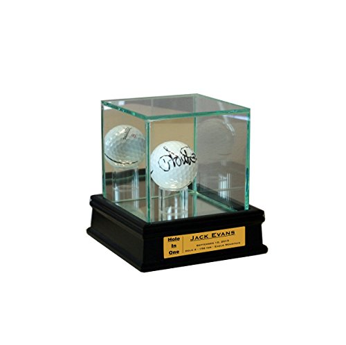 Personalized Golf Ball Display Case for Hole in One - One Ball Display Case
