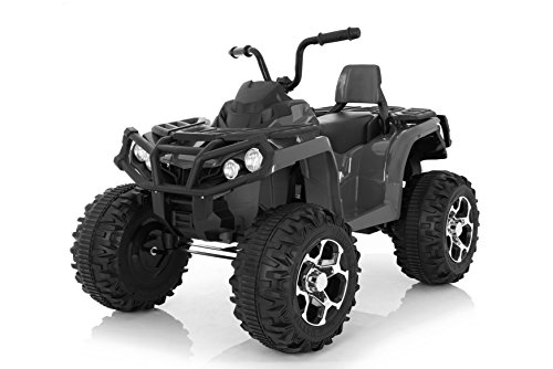 Wonderlanes 12V Ride Adventure Atv in Black, Battery Powered Toys, Black, Silver,...