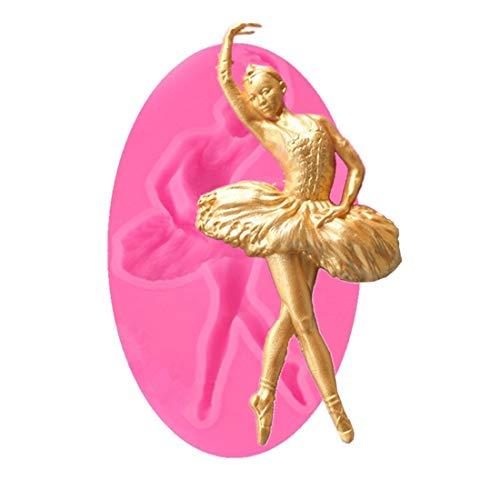Cake Molds - Nice Ballet Dancer Silicone Mold Sugarcraft Fondant Cake Decorating Chocolate Gumpaste - Women Unicorn Shape Letters Healthy Sets Mermaid Heart Cake Alphabet Metal Round Square