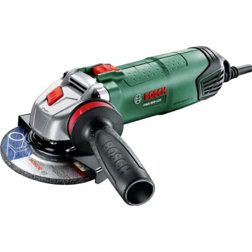 Bosch 06033A2700 Amoladora con maletín, 220 V, Negro, Verde, 850 W, Ø125 mm, empuñadura Anti Vibraciones