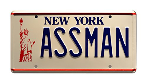 Framed Tag Art - Celebrity Machines Seinfeld | Assman | Metal Stamped License Plate