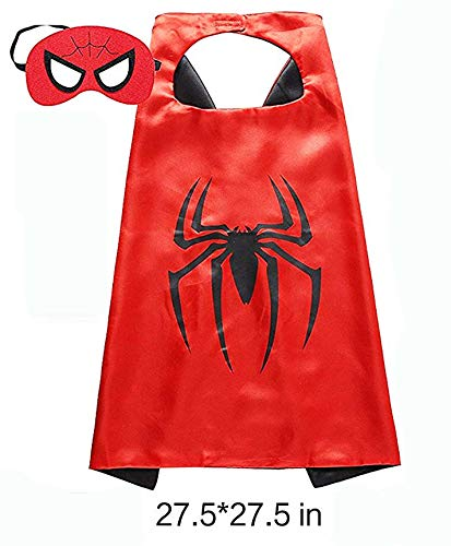 HSSKJ Kids Superhero Dress Up Costumes - Satin Capes Felt Masks LED Light Eye Mask and 2 Toy Transmitter by HSSKJ (Image #2)