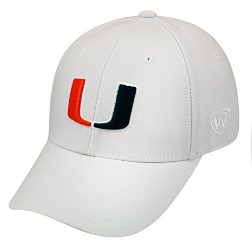 Top of the World NCAA-ACC Conference-Premium Collection-OneFit-Memory Fit- Size: L/XL-Miami Hurricanes-White