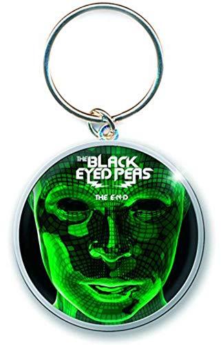 The Black Eyed Peas Keyring Keychain The End Album Official Metal (Black Blu Peas Eyed Ray)