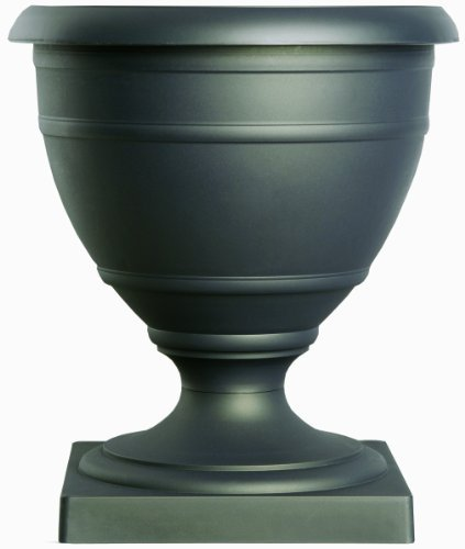 Akro Mils RUA16000G18 16-Inch Olympia Marina Series Urn, Black Onyx