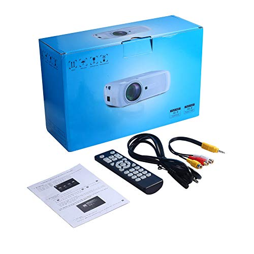 Veecome U90 Mini Movie Projector with Speaker 1500 Lumen Video Support 1080P Display for Home Theater Entertainment Black British regulations