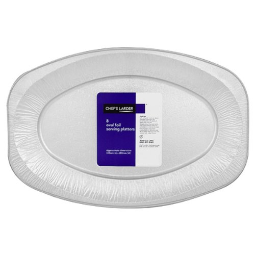 Chefs Larder 8 Oval Foil Serving Platters 425mm (Pack of ()