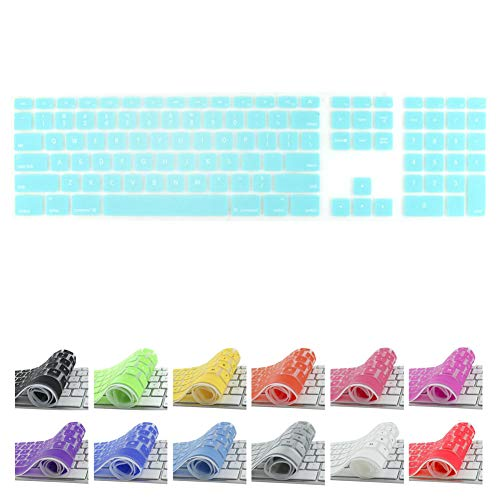 All-inside Teal Keyboard Cover for iMac Wired USB Keyboard