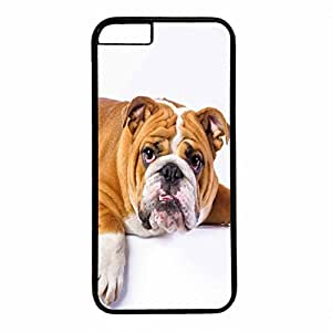 Hard Back Cover Case for iphone 6 Plus,Cool Fashion Black PC Shell Skin for iphone 6 Plus with Sunglasses Dog