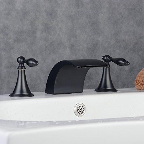 Hiendure Handles Widespread Waterfall Bathroom
