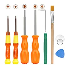 MoKo Repair Tool Kit for Nintendo, 9 in 1 Professional Screwdrivers L Wrench Cleaning Brush Precision Tool Set, for Nintendo Switch, Nintendo Wii / 2DS / 3 DS / DS Lite / GBA / Gamecube and More
