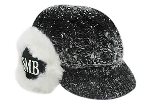 (leomoste Women's Beanie Hat Fleece Lined Knit Winter Snow Ski Hat Visor Earflap)